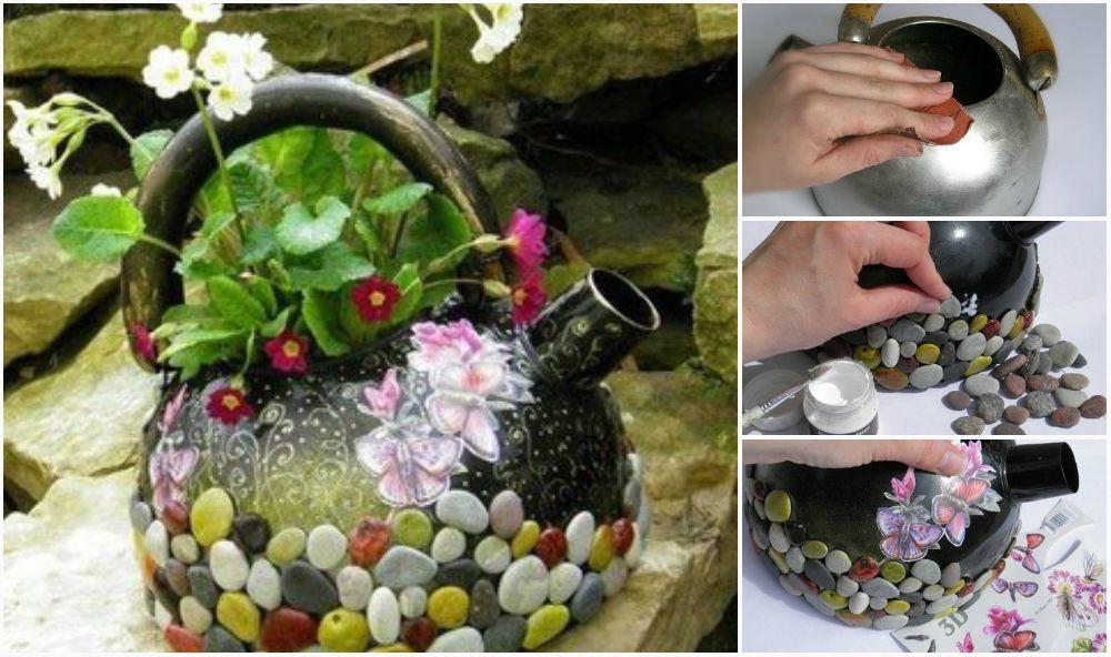 Гламурный чайник для вашего сада